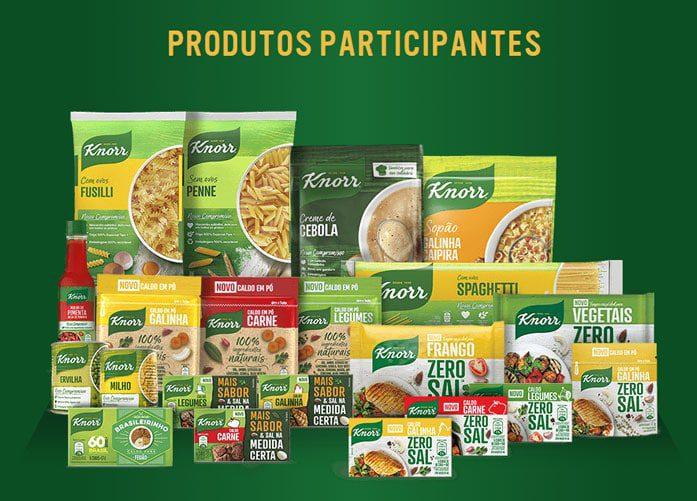 Produtos participantes da Prêmios da Promoção Knorr 60 anos