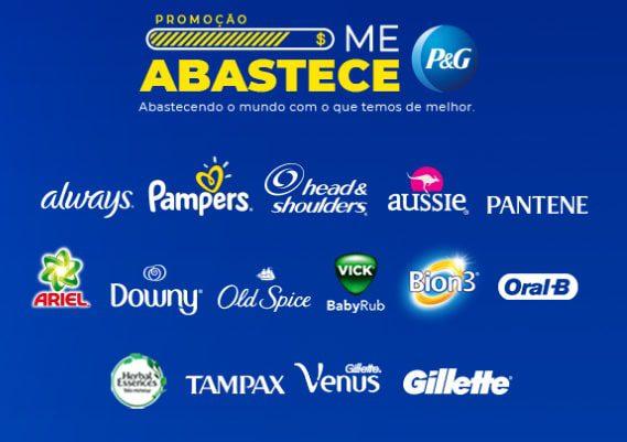 Marcas participantes da Promoção P&G Me Abastece - Concorra a Meio Milhão de Reais