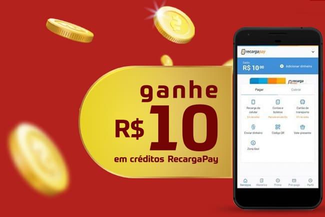 Ganhe 10 reais de no recarga pay com promoção sazón