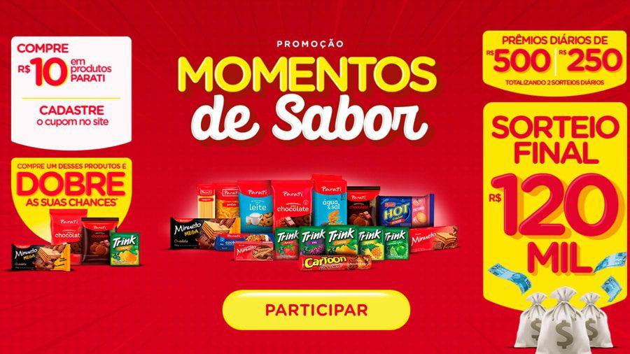 Promoção Parati e Trink 2021 - Momentos de Sabor e Prêmios de até 120 mil
