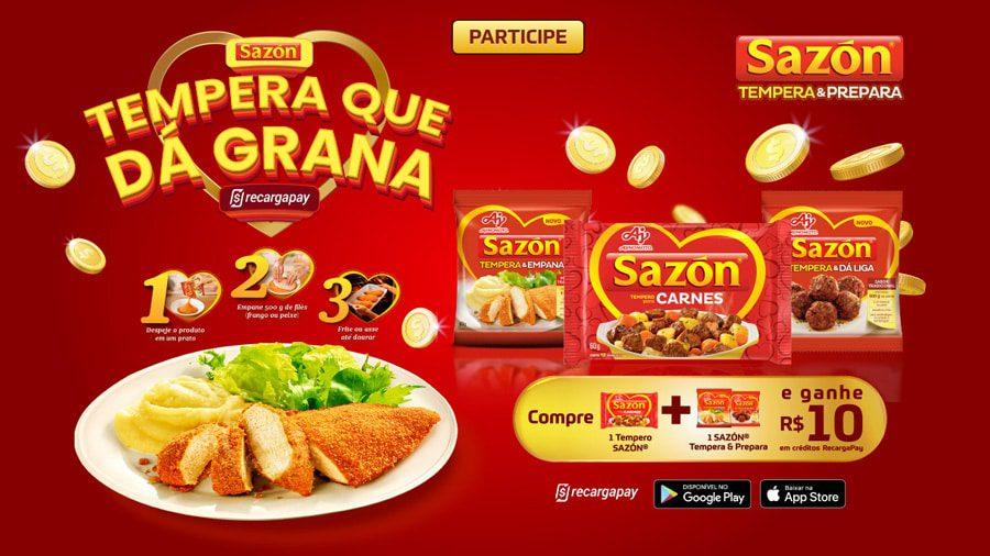Promoção Sazón 2021 Tempera que dá grana (Cashback)