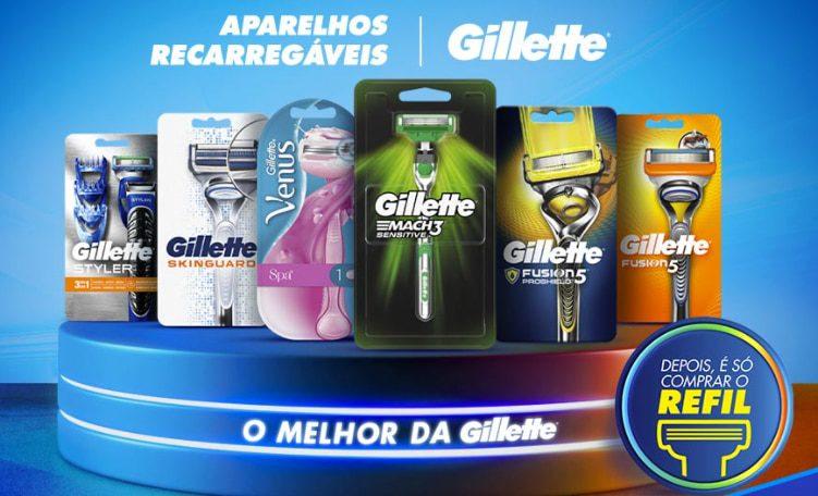 Produtos Participantes da Promoção Experimente Grátis Gillette