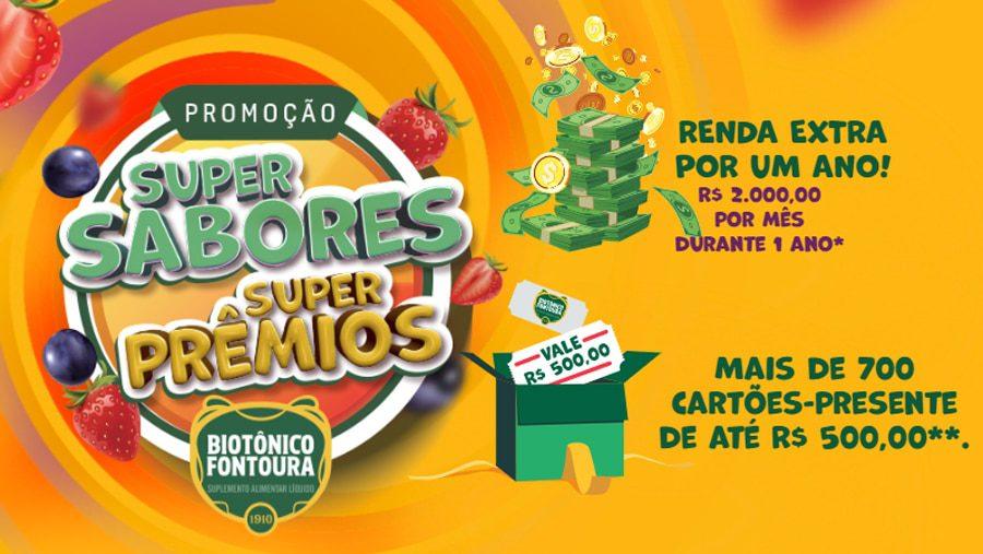 Promoção Biotônico Fontoura 2021 Super Sabores Super Prêmios