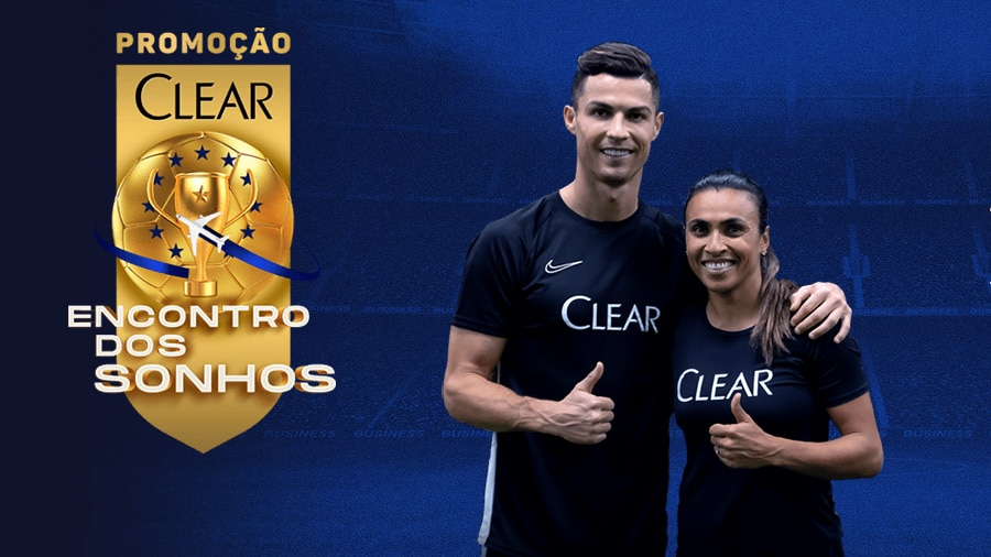 Promoção Clear 2021 Viagem dos sonhos com Cristiano Ronaldo e Marta