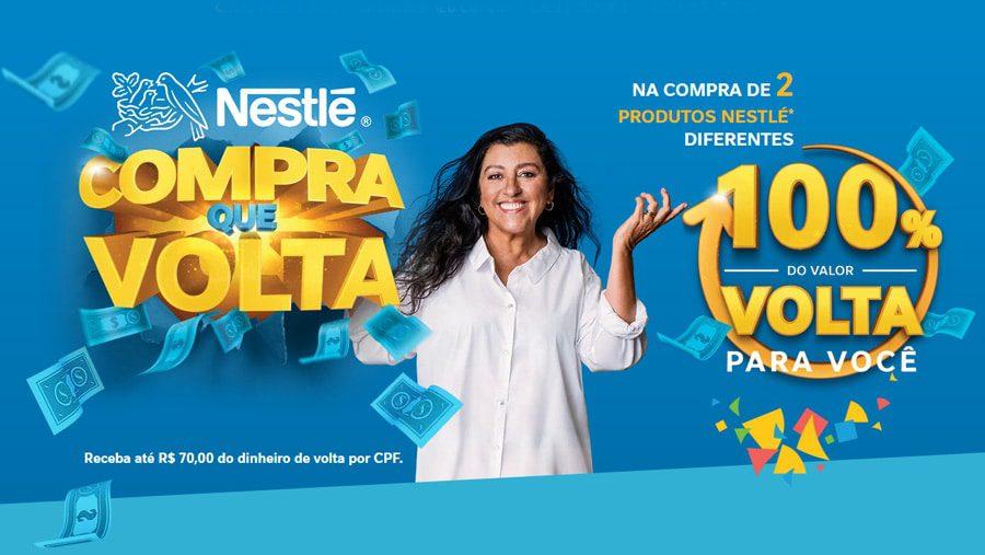 Promoção Nestlé Compra que Volta - Na compra de dois produtos você ganha 50% pago