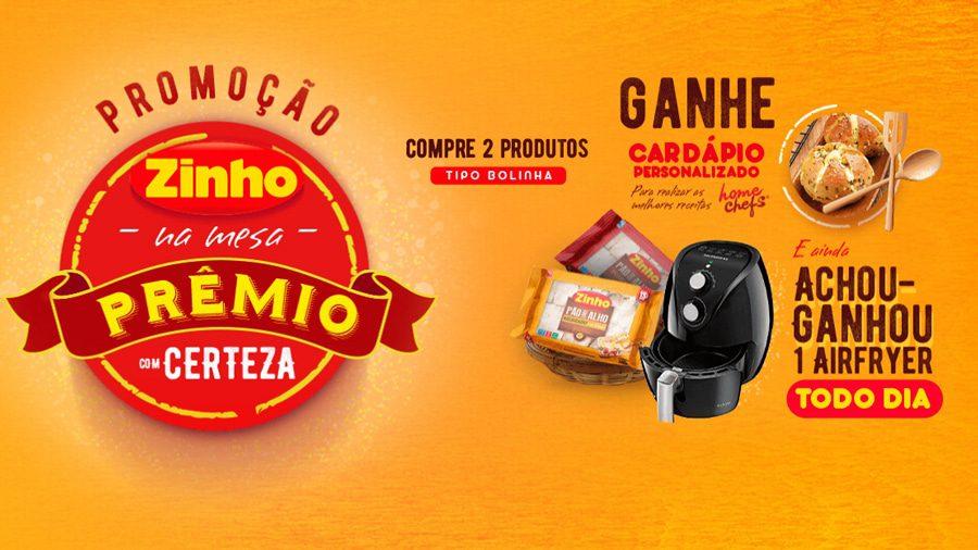 Promoção Zinho na Mesa Prêmio com Certeza