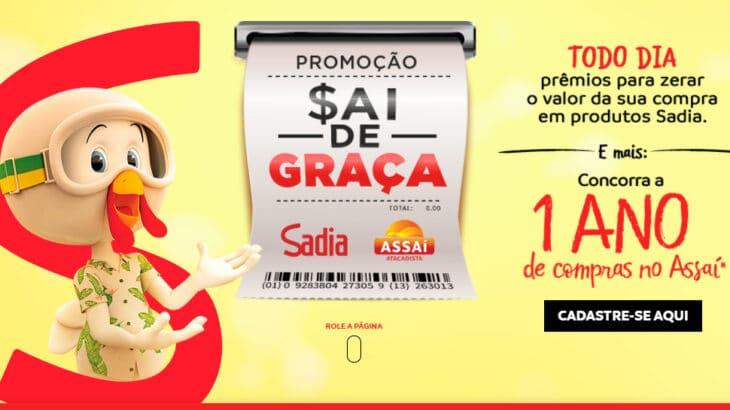 Promoção Sadia Assaí sai de graça