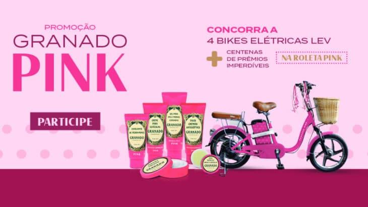 Promoção Granado Pink 2021 - Concorra bicicletas elétricas