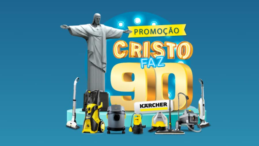 Promoção Karcher Cristo 90 anos