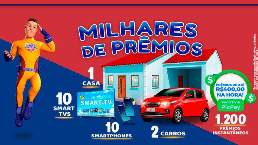 Promoção Supermarcas 2021 - Concorra a uma Casa, carros, TVs e celulares