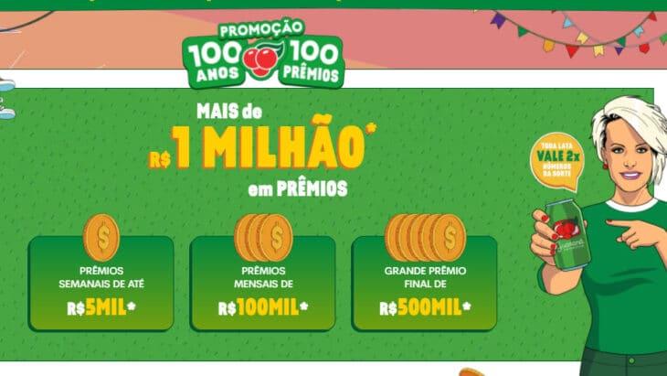 Promoção Guaraná 100 anos - Mais de um milhão em prêmios