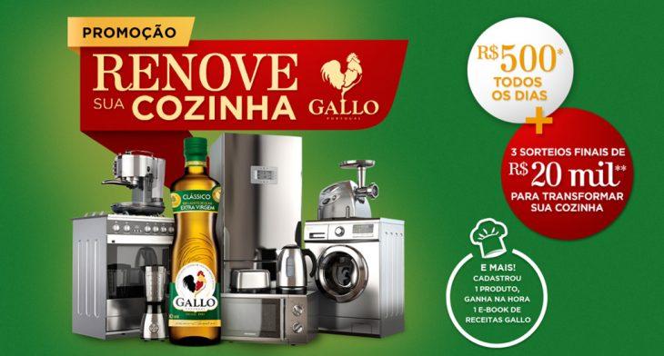 Promoção Gallo 2021 Renove sua Cozinha